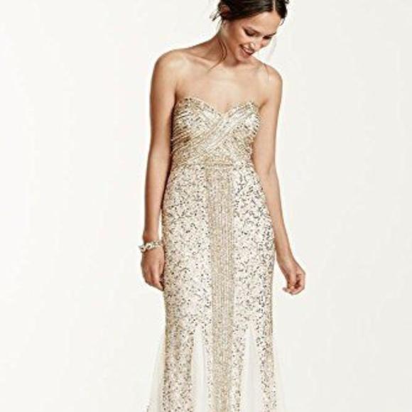 a55dd26b5a67 David's Bridal Dresses   Nwt Davids Bridal Sequin Gown By Joanna ...